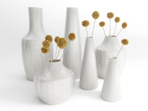 bruno ceramic vases with flowers